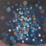 Delhi Night Drums 2012 - Oil on canvas - 100 x 100cm
