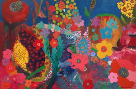 Flower Show  2016 oil on canvas 100cm x 150cm